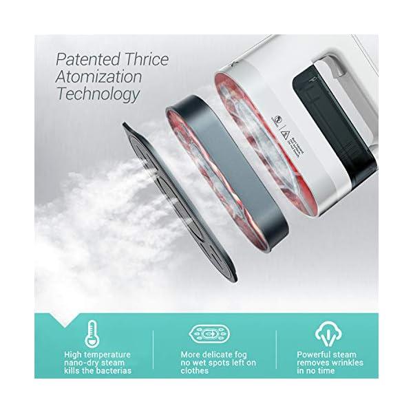 ABOX Plancha de Vapor para Viaje, 4 en 1 Modo de Vapor y Modo Seco de 1300W,