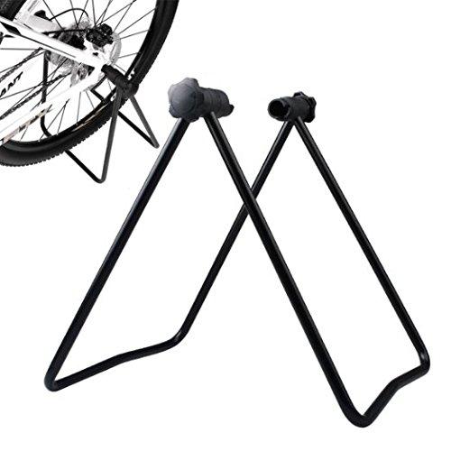 Xrten Portabici per Biciclette,Pieghevole Supporto per Bicicletta Ruota Manutenzione Meccanico Bicicletta Supporto Pieghevole