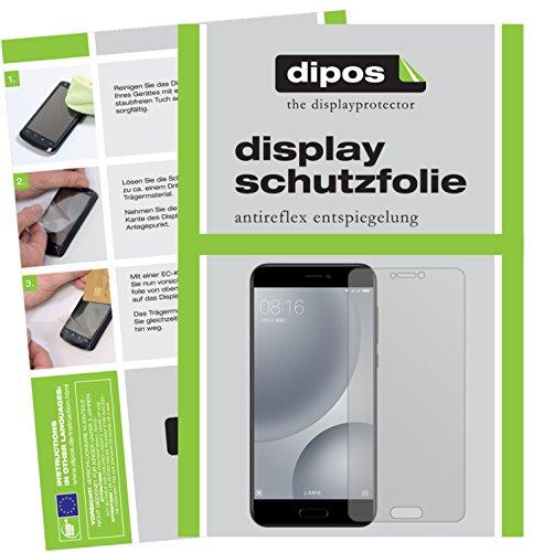 dipos I 2X Schutzfolie matt kompatibel mit Xiaomi Mi 5c Folie Bildschirmschutzfolie