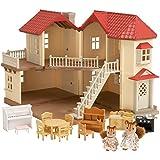 SYLVANIAN FAMILIES- City House with Lights & Furniture Casa de Mini...