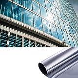 MarquisJacobs Pellicola a Specchio, autoadesiva, Protezione Solare per finestre, Pellicola Oscurante, AntiGraffio, Protezione dal Calore, Isolamento Termico, Protezione UV 99%
