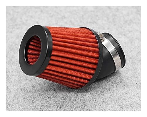 Cubierta de plástico a Prueba de Agua Filtro Aire Motocicleta Partol 48 Mm Filtro Admisión Limpiador Aire Rojo Universal 48 Mm para S&Cooter Filtro de Colmena (Color : 3, Size : 48mm)