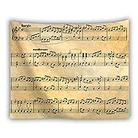 タペストリー 大判 150*130cm インテリア 音符柄 多機能 間仕切り 簡単撮影用 装飾布 カーテン 新築祝い プレゼント おしゃれ 壁掛けタペストリー MUSIC-05