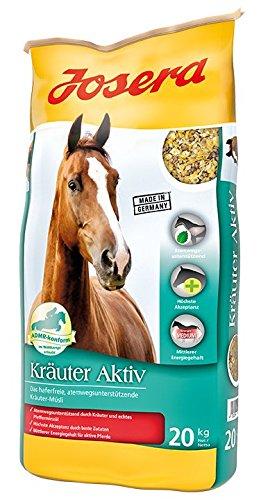 JOSERA Kräuter Aktiv (1 x 20 kg) | Premium Pferdefutter für staubempfindliche Pferde| haferfrei | Müsli für Pferde in mittlerer Arbeit | 1er Pack