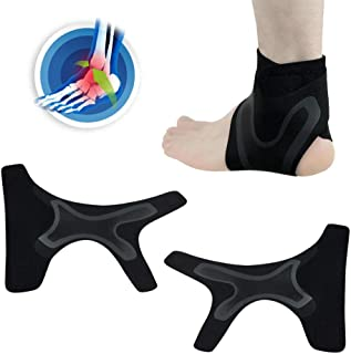 Ankle Brace, Foonee 1 Pair Breathable Ankle Support for Men Women, Adjustable Compression Ankle Wrap for Sports Protect, Ankle Sprain, Pain Relie, Sprains