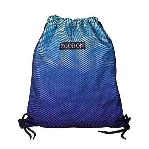 Rucksack mit Kordelzug, wasserabweisend, für Sport, Fitnessstudio, leichter Tagesrucksack für Männer und Frauen, trockener Rucksack, zum Schwimmen, Strand, Reisen (blauer Farbverlauf)