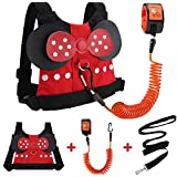 Accmor Toddler Leash Harness, Child Harness Baby Leash + Anti-Lost Wrist Link, Cute Kids Harness with Walking Strap Tether Belt for 1-5 Years Boys and Girls to Zoo or Mall