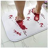 Halloween Bath Mats For Bathroom, Bloody Footprint Bath Mat Color Changing, Bath Mat Changes Color When Wet - for Shower/Bathroom - Novelty Gag Gift