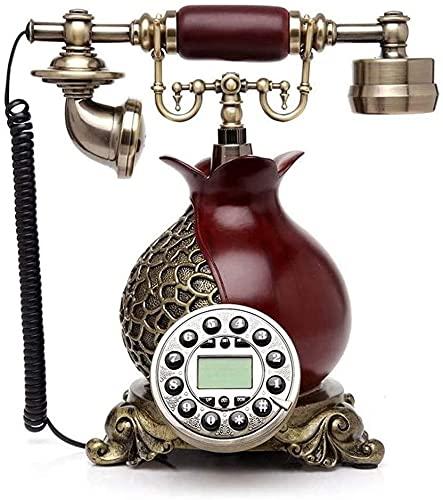 Teléfonos decorativos antiguos Teléfonos domiciliarios Teléfono teléfono fijo Vintage Vintage Escritorio clásico con dialer Teléfono con empujón nostálgico con cable de tela - teléfono de metal de bro