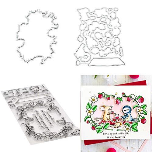 hgfcdd Ratten & Vogel Metall Stanzformen Schablonen für DIY Scrapbooking Papier Kartenprägung