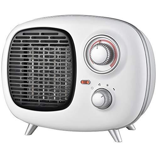 Ardes AR4P02V Fifty PTC Calentador de ventilador de cerámica estilo vintage, 2 potencias con indicador de funcionamiento y termostato de temperatura 1500 W