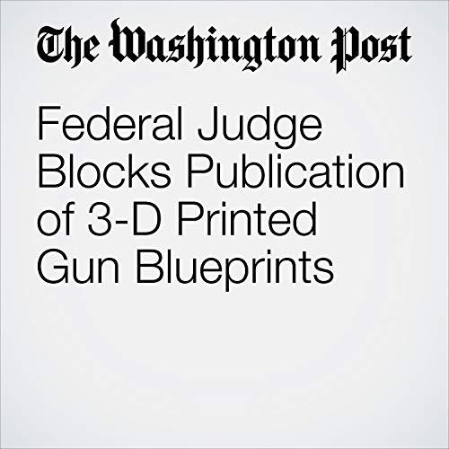 Federal Judge Blocks Publication of 3-D Printed Gun Blueprints copertina