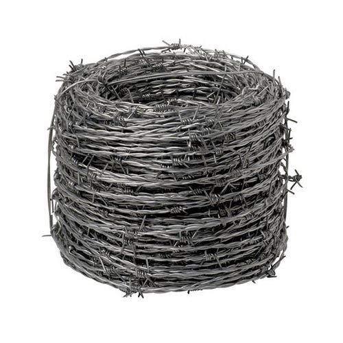 NEXTRADEITALIA CF da 1PZ Filo spinato con 4 PUNTE   rotolo da 100 MT   2 FILI Ø 1,7 mm Modello LEGGERO zincato per recinzioni concertina ferro spinato