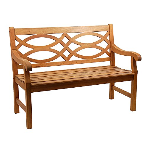 achla outdoor benches Achla Designs 4-Foot Hennell Garden Bench, Natural