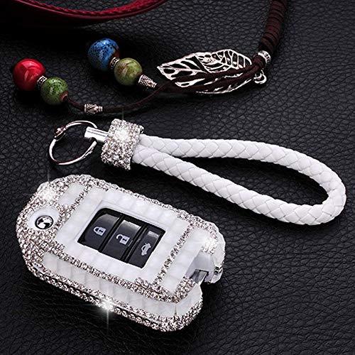 HDCF De Brillant Bling Cristal Diamant Bijoux Décoration Cas De Clé De Voiture Couverture/Clé De Voiture Shell pour FIT Accord Vezel Civic Ville Jazz HRV HR-V Crider CRV XR-V
