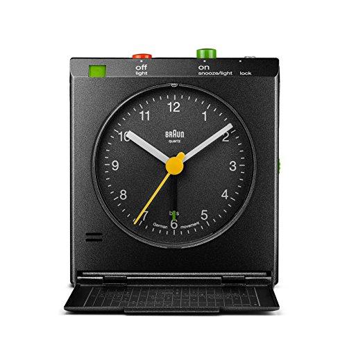 Braun – Despertador de viaje clásico con detector de movimiento, BNC005BKBK, color negro