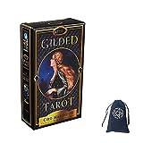 Las Tarjetas De Oracle del Tarot Dorado con Bolsa De Terciopelo,The Gilded Tarot Oracle Cards