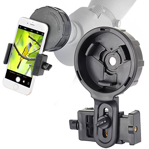 Cell Phone Adapter Mount for Vortex Bushnell Celestron Barska Spotting Scope Big Eyepiece Adapter Mount Work with Binoculars Monocular Spotting Scope Telescope For iPhone 6Plus Samsung HTC LG and More