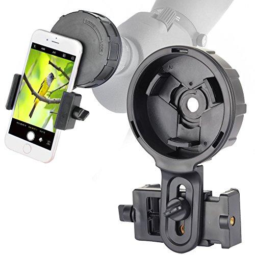 SOLOMARK Handyhalterung für Vortex Bushnell Celestron Barska Spektiv Big Okular Arbeit mit Fernglas Monokular Spektiv Teleskop für fast Smartphone, Handyhalterung für große Okulare