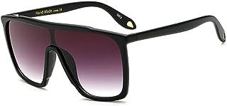 Large Men Sunglasses Vintage Retro 70s Squared Frame Flat Top Shield Glasses