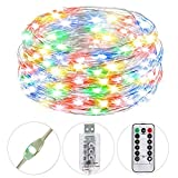 HSicily USB Plug in Fairy Lights with Remote...