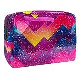 Bolsa de Maquillaje Grunge geométrico Neceser de Cosméticos y Organizador de Baño Neceser de Viaje Bolsa de Lavar para Hombre y Mujer 18.5x7.5x13cm