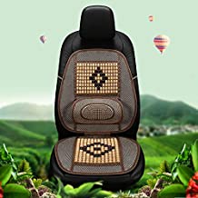 1PCS 135*48cm (53.2x18.9 inch) Car Waist and Seat Wooden Beads Pad-Car Waist and Seat Cushion-Waist and Seat Cushion Car-Car Decoration Accessories-Car Decorations Interior-Car Support Cushion (Beige)