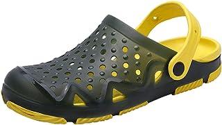 Yowablo Sandales Hommes Plage Évider Pantoufles Respirantes Décontractées Appartements Chaussures