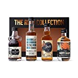 Rum Gift Set by The Rum Collection- Kraken Spiced Rum, Sailor Jerry Spiced Rum, Duppy Share Rum, Jamaican Cut Rum x4
