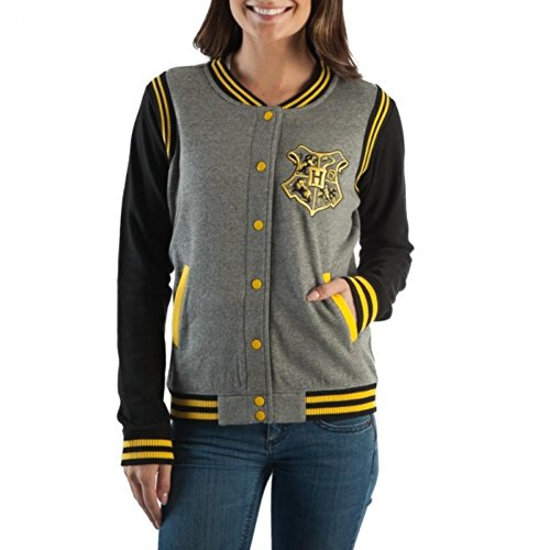 HARRY POTTER Juniors Hufflepuff Quidditch Jacket (XX-Large)