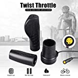 Electric Bike Half Twist Throttle Left ThumbThrottle Speed Controller for Ebike and Scooter (Half, Left)