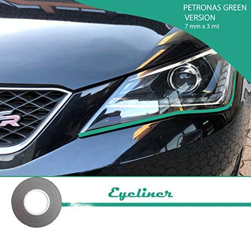 Quattroerre 10802 Stripes Adesive Eyeliner für Scheinwerfer Auto, Petronas
