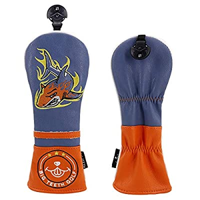 Big Teeth Golf Head Covers Hybrid Headcover for Woods Hybrids Rescue Utility UT with Interchangeable Number Tag (Lucky Clover)