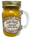 Our Own Candle Company Buttered Maple Syrup Scented 13 Ounce Mason Jar Candle