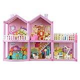 Simulación de casa de muñecas Villa DIY, modelo de castillo