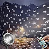 EAMBRITE Christmas Snowflakes Projector Light with Remote Control Outdoor Snow Falling Projection Lights for Xmas Home Yard Garden Party