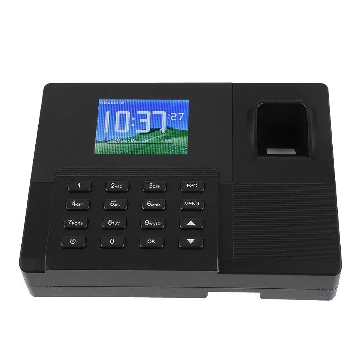 使い込む主観的スノーケル2.8インチTFTインテリジェントバイオメトリック 指紋パスワード出席マシン 時間出席クロック 従業員チェックインオフィス用レコーダー(US プラグ)