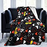 Mickey Mouse Blanket Ultra Soft Plush Bed Blanket Cozy Lightweight Couch Blanket for Adults and Kids Flannel Throw Blankets 50'X40'