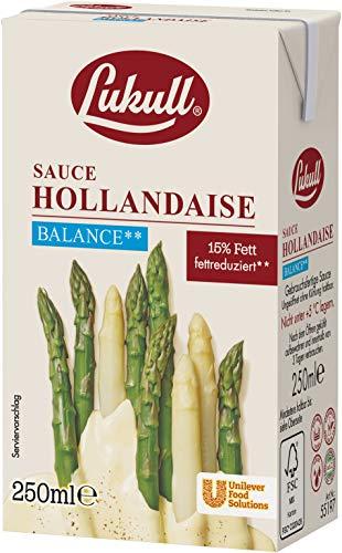 Lukull Sauce Hollandaise balance sofort einsetzbar, zart, cremig und gelingsicher, 12er Pack (12 x 250 ml)