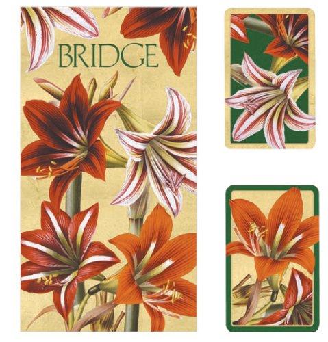 Caspari Entertaining with Double Deck of Bridge Playing Cards, Legno, Multi-Colour, 7.8 x 20.35 x 0.55 cm