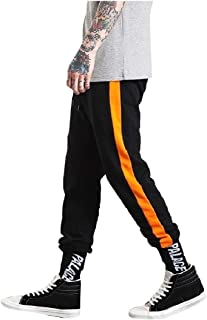 SportsX Men Skinny-Fit Drawstring Comfy Hit Color Sports Running Pants