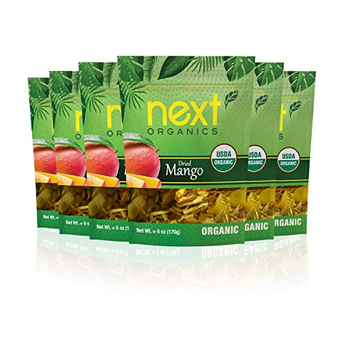Next Organics Dried Mango 6 oz Bag Pack of 6