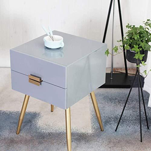 Nachttisch, Nachttisch, kleiner Schrank, Schrank, Möbel, Beistellschrank, Aufbewahrungsschrank, Wohnzimmer, Beistelltisch, Beistelltisch (Farbe: Grau)