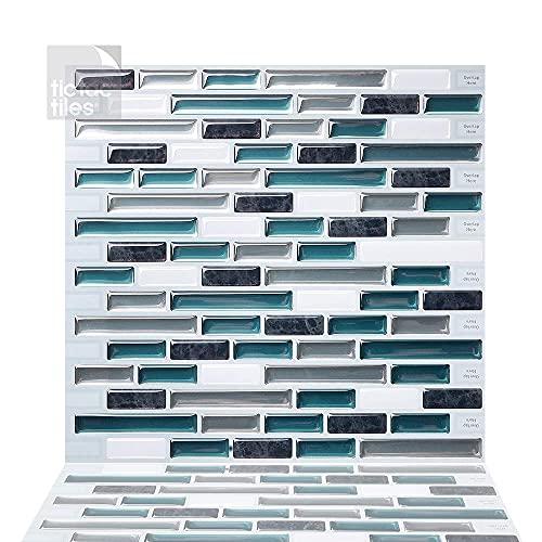 Tic Tac Tiles Pelar anti moho y enchufe de pared de azulejos pared posterior En 5 10' x 10' Como Bay