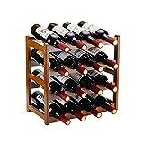 Bamboo Wine Rack,4 Tier, Wine Bottle Holder, Hold 16 Bottles for Home Kitchen, Dinging Room, Pantry, Cabinet, Bar