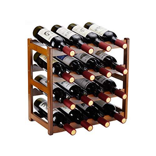Homevany Bamboo Wine Rack