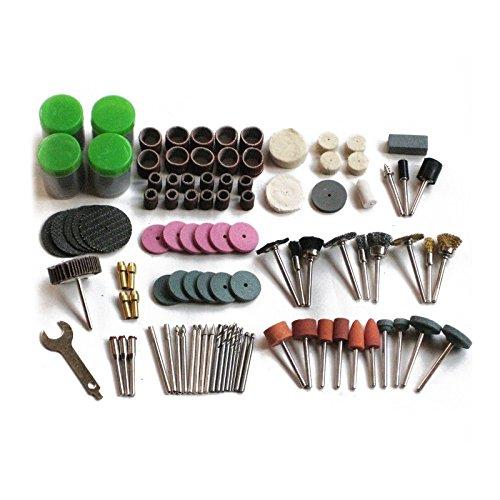 TOOGOO 147pzs Juego de broca mini herramienta rotativa de taladro y apto Dremel Juegos de herramientas de pulido, tallado, pulido, cabeza de amoladora