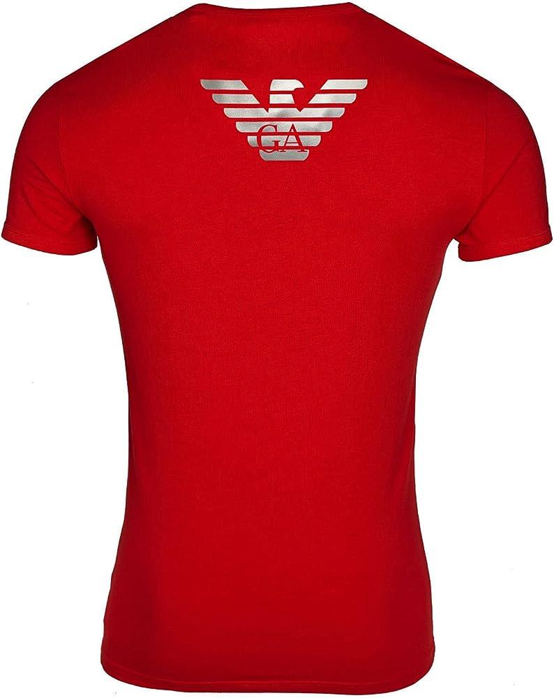 Emporio armani t shirt, maglietta a maniche corte per uomo, 100% cotone 111035 6A725