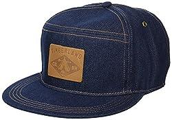 top 10 timberland baseball hat Timberland Men's Cotton Baseball Cap Dark Denim / Leather Logo Patch One Size