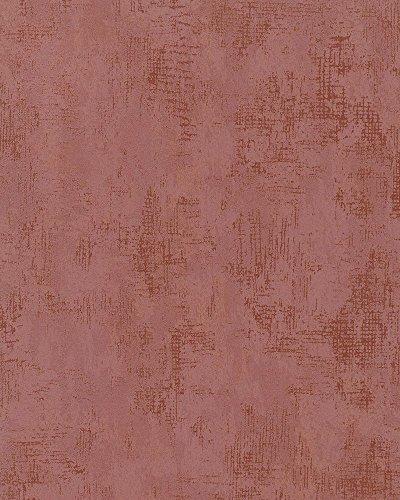 Tapete Rot, Kupfer Struktur - Uni für Wohnzimmer, Schlafzimmer oder Küche - 10,05m x 0,53m - Made in Germany - 58004 Nabucco